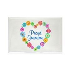 Proud Grandma Heart Rectangle Magnet