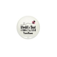 World's Best Archaeologist Mini Button (10 pack)
