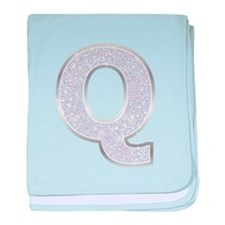 Sparkle Letter Q baby blanket