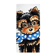 Baby Blue Yorkie Beach Towel