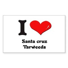 I love santa cruz tarweeds Rectangle Decal