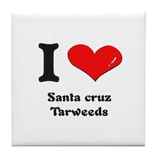 I love santa cruz tarweeds  Tile Coaster