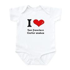 I love san francisco garter snakes  Infant Bodysui