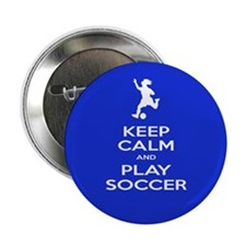 "Play Soccer Girl 2.25"" Button"