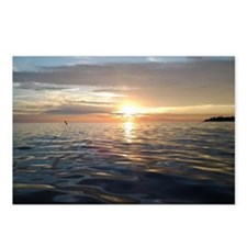 Sunset on lake Erie Postcards (Package of 8)