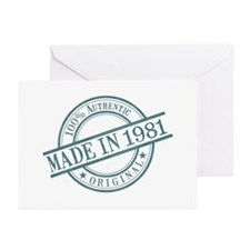 Made in 1981 Greeting Cards (Pk of 10)