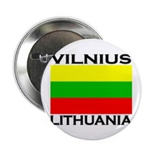 "Vilnius, Lithuania Flag 2.25"" Button (10 pack)"