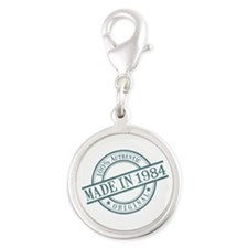 Made in 1984 Silver Round Charm