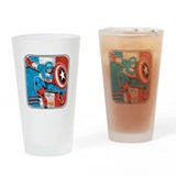 Captain america Pint Glasses