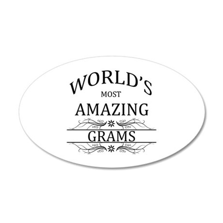 World's Most Amazing Grams 35x21 Oval Wall Decal