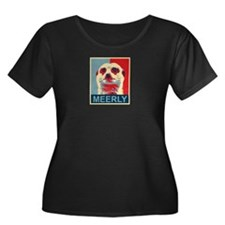 Meerly Meerkat Plus Size T-Shirt