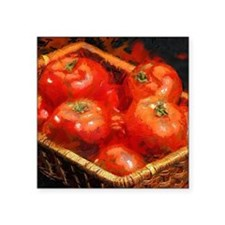 "Tomatoes in April Square Sticker 3"" x 3"""