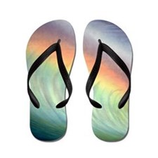 Pipeline Hawaii Painting Tropical Flip Flops