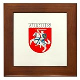 Vilnius, Lithuania Coat of Ar Framed Tile