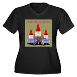 Hanging With My Gnomies Women's Plus Size V-Neck D