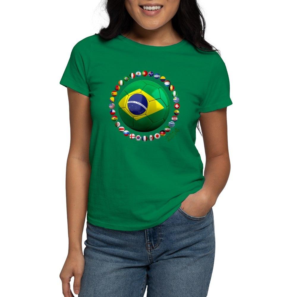 World soccer t shirts 2014 04 17 14 for Womens brazil t shirt