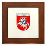 Lithuania Coat of Arms (Dark) Framed Tile