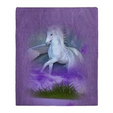 Pegasus island Throw Blanket