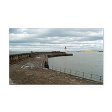 Seawall at Whitehaven harbour Rectangle Car Magnet