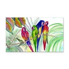 Parrots Rectangle Car Magnet