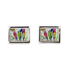 Parrots Rectangular Cufflinks