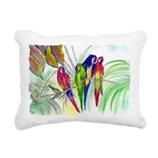 Parrots Rectangular Canvas Pillow