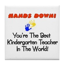 Cute Kindergarten teacher Tile Coaster