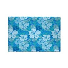 Hibiscus Blue Batik Magnets