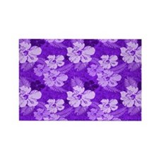 Hibiscus Purple Tropical Flowers Magnets