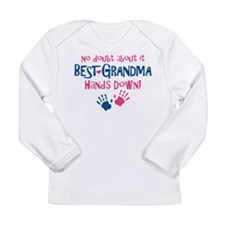 Hands Down Best Grandma Infant Long Sleeve T-Shirt