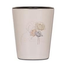 Delicate Poppy Flowers Shot Glass
