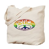 Gay Peace symbol Tote Bag