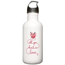 All you knit is love Water Bottle
