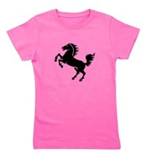 Horse Black.png Girl's Tee