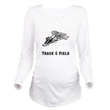 Track Field Black Only.png Long Sleeve Maternity T