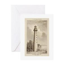 Hunting Island Light. Greeting Card