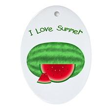 Watermelon Summer Oval Ornament