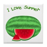 Watermelon Summer Tile Coaster