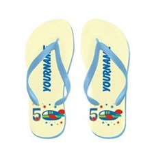 5th Airplane Birthday Personalized Flip Flops