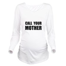 Call Your Mother Black.png Long Sleeve Maternity T
