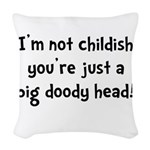Childish Doody Head Woven Throw Pillow
