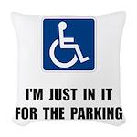 Handicap Parking Woven Throw Pillow