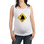 Falling Cow Zone Yellow Maternity Tank Top