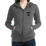 Worlds Best Boss Women's Zip Hoodie