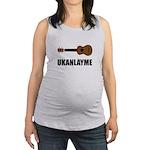 Ukanlayme Ukulele Maternity Tank Top