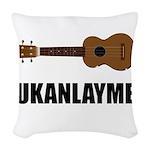 Ukanlayme Ukulele Woven Throw Pillow