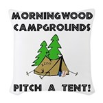 Morningwood Campgrounds Black.png Woven Throw Pill