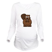 FBC Beaver ONLY.png Long Sleeve Maternity T-Shirt