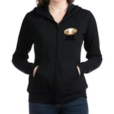 King Of Coals Black.png Women's Zip Hoodie