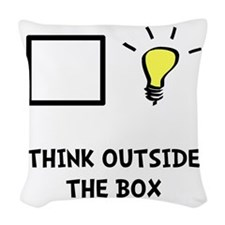 Think Outside The Box Woven Throw Pillow